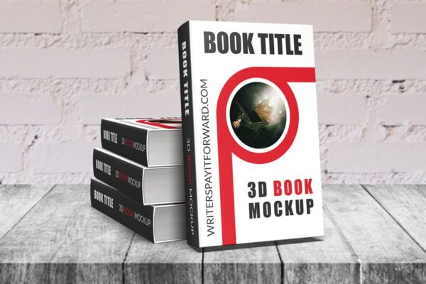 3D Book Mockup Hardcover 5x8