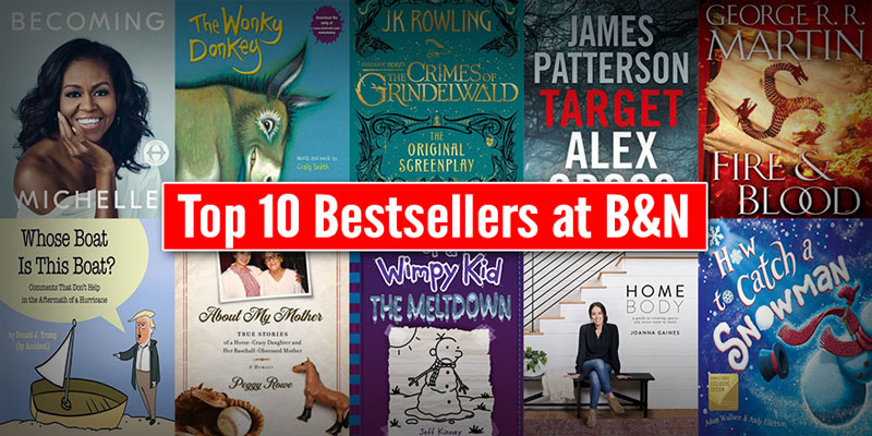 Top 10 Bestsellers at Barnes and Noble